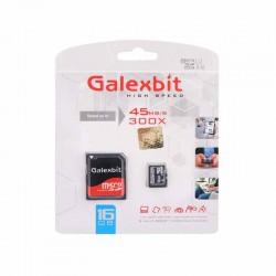 کارت حافظه microSD گلکسبیت کلاس 10 استاندارد U1 سرعت 45MBps همراه با آداپتور SD ظرفیت 16 گیگابایت